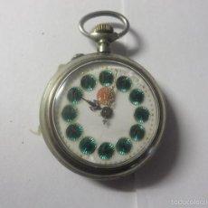 Relojes de bolsillo: RELOJ BOLSILLO DE LENTEJUELAS-1 CRONOMETRO LA VERDAD.MAQUINA GRAVADA. Lote 56280605