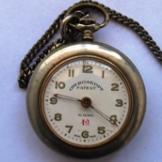 Relojes de bolsillo: RELOJ ROSKOPF PATENT 1ª 10 RUBIS - SWISS MADE - FUNCIONA - PEQUEÑA FISURA EN CRISTAL. Lote 56318311