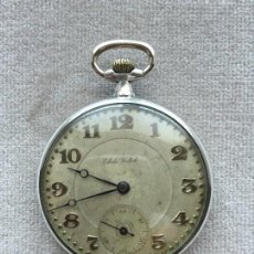 Relojes de bolsillo: RELOJ ANTIGUO DE BOLSILLO DE PLATA, CABALLERO, CUERDA MANUAL. Lote 56333699