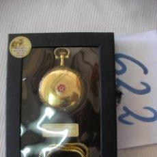 Relojes de bolsillo: RELOJ DE BOLSILLO DE COLECCION CARGA MANUAL A CUERDA FUNCIONANDO EN SU CAJA NUEVO SIN USAR. Lote 56672483