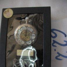 Relojes de bolsillo: RELOJ BOLSILLO DE COLECCION CARGA MANUAL A CUERDA EN CAJA NUEVO SIN USAR - ENVIO INCLUIDO A ESPAÑA. Lote 57205145