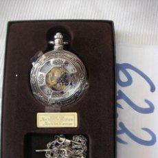 Relojes de bolsillo: RELOJ DE BOLSILLO DE COLECCION CARGA MANUAL A CUERDA FUNCIONANDO EN SU CAJA NUEVO SIN USAR. Lote 56672574