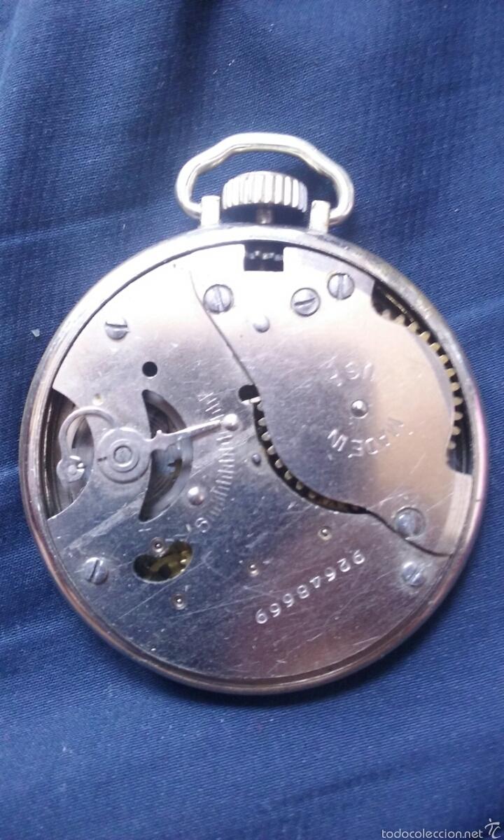 Relojes de bolsillo: Antiguo reloj de bolsillo USA. - Foto 5 - 56993025