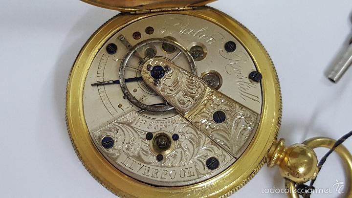 Relojes de bolsillo: Reloj bolsillo antiguo. Robert Roskell. Liverpool. - Foto 7 - 57123894