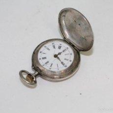Relojes de bolsillo: RELOJ DE BOLSILLO REMONTOIR 8 RUBIS EN PLATA DE LEY. Lote 57586617