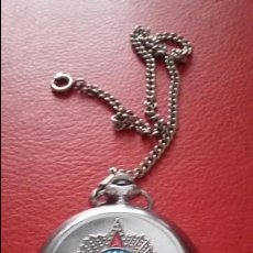 Relojes de bolsillo: IMPECABLE RELOJ DE BOLSILLO RUSO. CONMEMORATIVO 1941-1945 . ESFERA AZUL. FUNCIONANDO. Lote 57224587