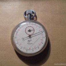Relojes de bolsillo: ANTIGUO CRONOGRAFO CAJA DE ACERO ANCRE 11 RUBIS ANTICHOC LE FALTA UN PULSADOR , ESTADO FUNCIONANDO .. Lote 57385503