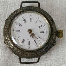 Relojes de bolsillo: RE340. RELOJ DE BOLSILLO. CAJA EDE PLATA. ESFERA ESMALTADA. MADE IN SWISS. SIGLO XIX.. Lote 195109187