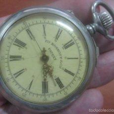 Relojes de bolsillo: RARO RELOJ DE BOLSILLO ROSKOPF CON FUNCION DE PARADA Y SEGUNDERO CENTRAL 53 MM, FUNCIONANDO. Lote 57593822