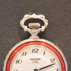 Relojes de bolsillo: PEQUEÑO RELOJ DE BOLSILLO SUIZO IMEXOR LUXE 17 RUBÍS SWISS MADE AUTOMATICO FUNCIONANDO. Lote 57625077