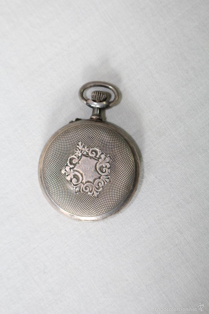 Relojes de bolsillo: reloj de bolsillo swiss en plata de ley - Foto 2 - 57634902