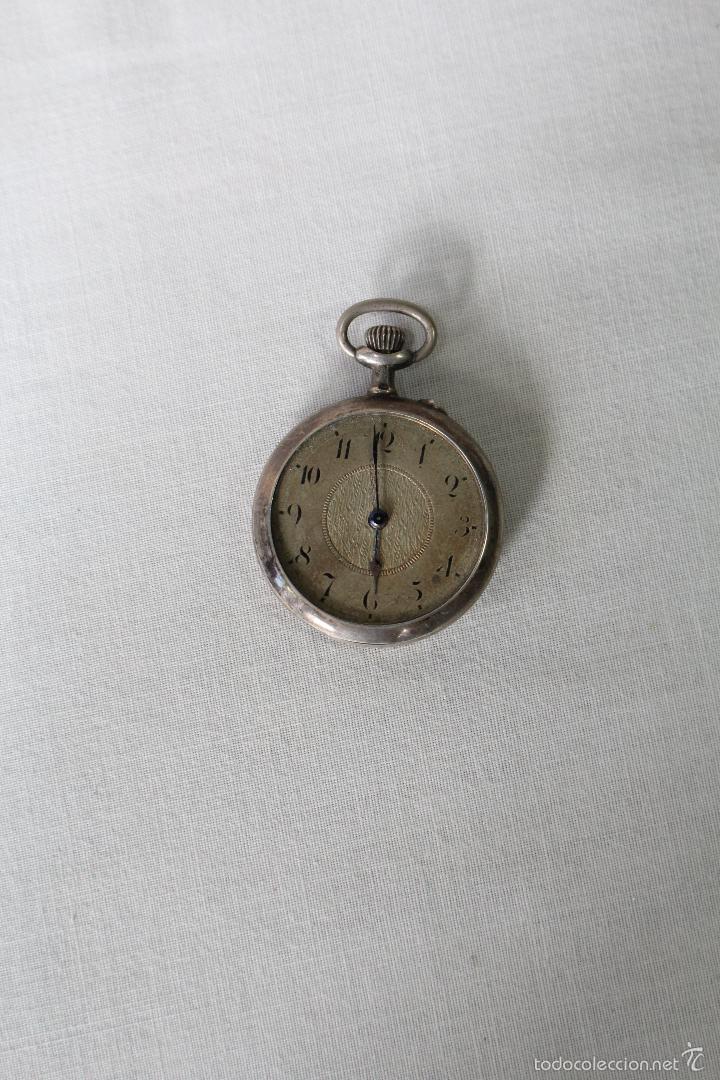 Relojes de bolsillo: reloj de bolsillo swiss en plata de ley - Foto 3 - 57634902