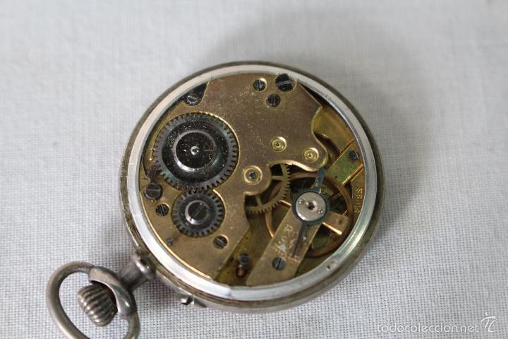 Relojes de bolsillo: reloj de bolsillo swiss en plata de ley - Foto 4 - 57634902