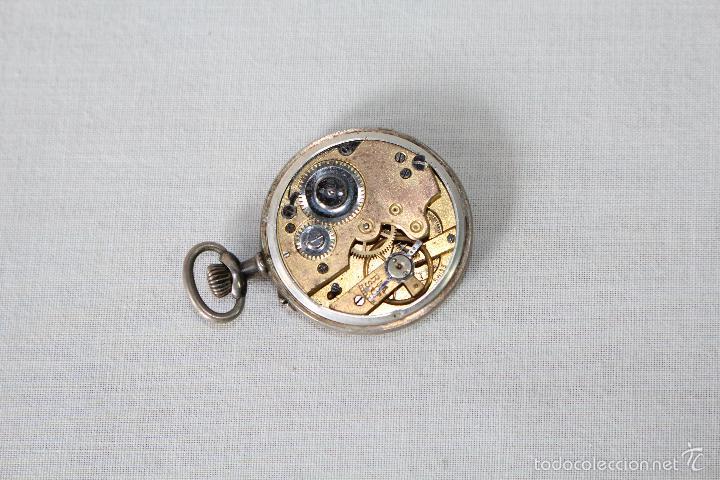 Relojes de bolsillo: reloj de bolsillo swiss en plata de ley - Foto 5 - 57634902