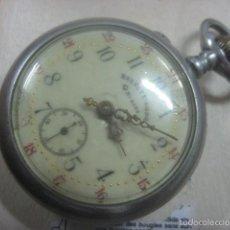 Relojes de bolsillo: FERROVIARIO RELOJ DE BOLSILLO ROSKOPF CHEMIN DE FER, DATA DE 1890, FUNCIONANDO, 52 MM. Lote 57698466
