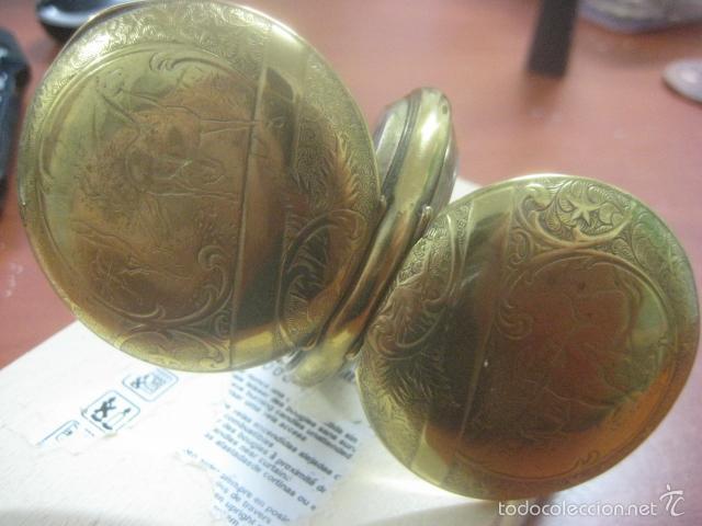Relojes de bolsillo: TREMENDO RELOJ DE BOLSILLO ROSKOPF SABONETA COMPLETO LABRADO DORADO, 56 MM, DATA DE 1900,FUNCIONANDO - Foto 13 - 57698667