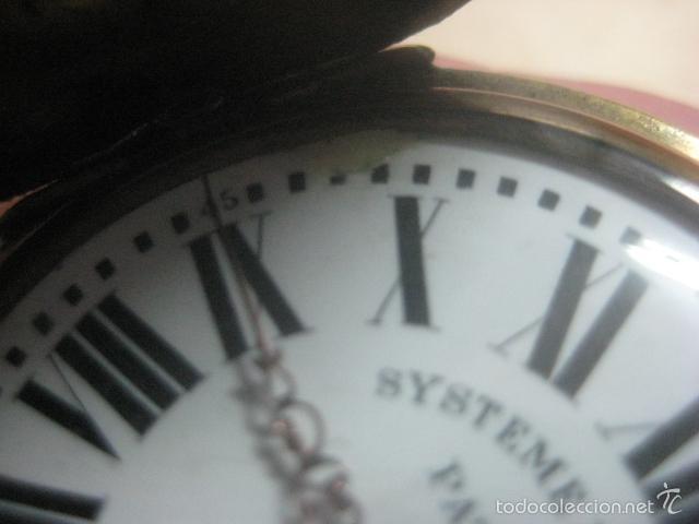 Relojes de bolsillo: TREMENDO RELOJ DE BOLSILLO ROSKOPF SABONETA COMPLETO LABRADO DORADO, 56 MM, DATA DE 1900,FUNCIONANDO - Foto 23 - 57698667
