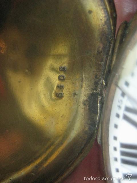 Relojes de bolsillo: TREMENDO RELOJ DE BOLSILLO ROSKOPF SABONETA COMPLETO LABRADO DORADO, 56 MM, DATA DE 1900,FUNCIONANDO - Foto 26 - 57698667