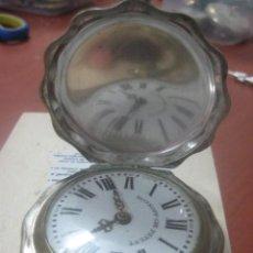 Relojes de bolsillo: TREMENDO RELOJ DE BOLSILLO ROSKOPF SABONETA ONDULADO, COMPLETO LABRADO, 56 MM, DE 1900,FUNCIONANDO. Lote 57733751