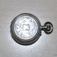 Relojes de bolsillo: RELOJ BOLSILLO PLATA, 3 TAPAS, ESCAPE CILINDRO. 10 RUBIS. FUNCIONADO. Lote 58192106