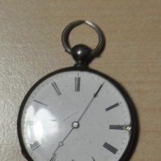 Relojes de bolsillo: RELOJ BOLSILLO PLATA, CILINDRO .. Lote 58192706