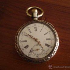 Relojes de bolsillo: RELOJ DE BOLSILLO EN PLATA Y PLATA DORADA. Lote 43657674
