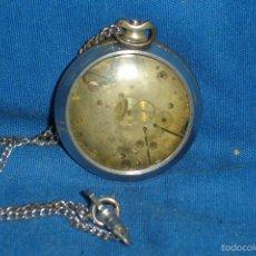 Relojes de bolsillo: -ANTIGUO RELOJ DE BOLSILLO PARA REPARACIÓN O REPUESTO. Lote 59077115
