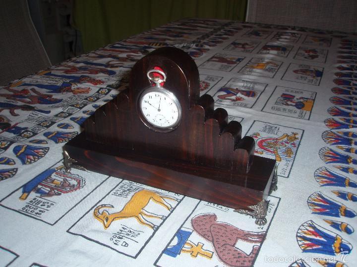 Relojes de bolsillo: RELOJERA PARA RELOJ DE BOLSILLO DE MADERA - Foto 2 - 166064086