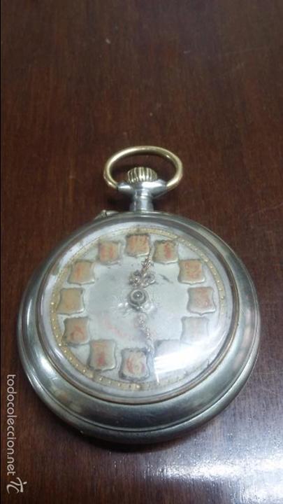 RELOJ DE BOLSILLO SISTEMA ROSCOPF. FUNCIONANDO. (Relojes - Bolsillo Carga Manual)