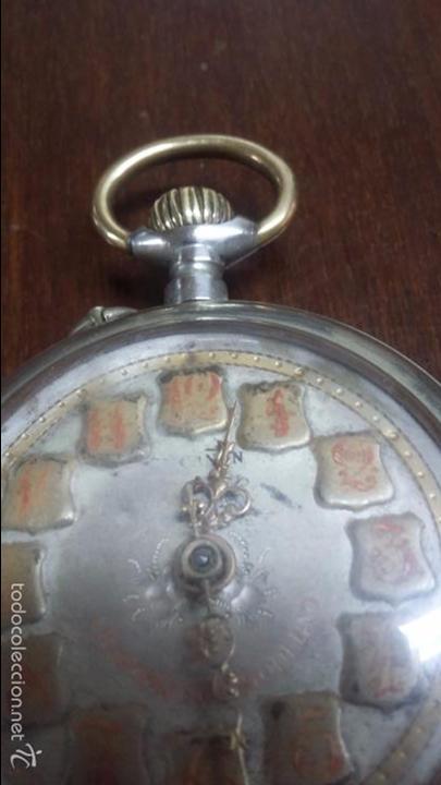 Relojes de bolsillo: RELOJ DE BOLSILLO SISTEMA ROSCOPF. FUNCIONANDO. - Foto 6 - 59812076