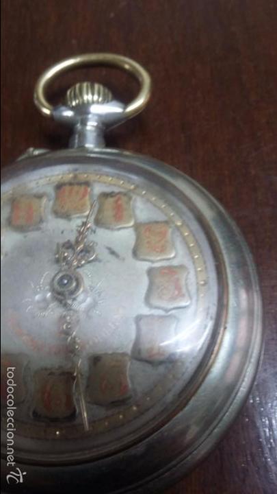 Relojes de bolsillo: RELOJ DE BOLSILLO SISTEMA ROSCOPF. FUNCIONANDO. - Foto 8 - 59812076
