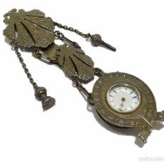 Relojes de bolsillo: RELOJ DE BOLSILLO DE MUJER ESCAPE DE CILINDRO ESTILO CHATELAINE- FINALES S.XIX PRINCIPIOS S.XX . Lote 59902339