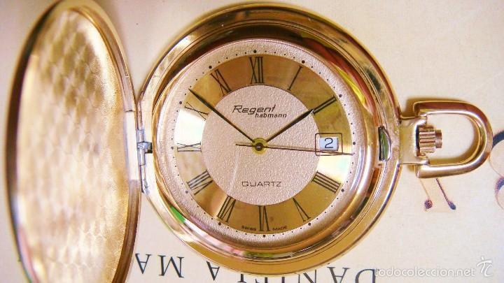 REGENT HABMANN EXTRA-PLANO SWISS MADE CHAPADO 18K - CALENDARIO (Relojes - Bolsillo Carga Manual)
