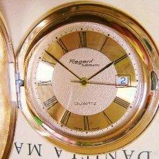 Relojes de bolsillo: REGENT HABMANN EXTRA-PLANO SWISS MADE CHAPADO 18K - CALENDARIO. Lote 59942115