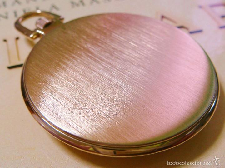 Relojes de bolsillo: REGENT HABMANN EXTRA-PLANO SWISS MADE CHAPADO 18K - CALENDARIO - Foto 9 - 59942115