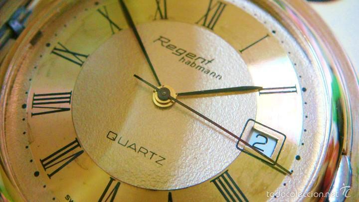 Relojes de bolsillo: REGENT HABMANN EXTRA-PLANO SWISS MADE CHAPADO 18K - CALENDARIO - Foto 13 - 59942115