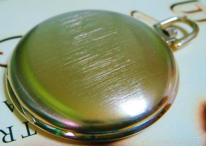 Relojes de bolsillo: REGENT HABMANN EXTRA-PLANO SWISS MADE CHAPADO 18K - CALENDARIO - Foto 17 - 59942115