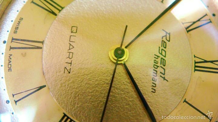 Relojes de bolsillo: REGENT HABMANN EXTRA-PLANO SWISS MADE CHAPADO 18K - CALENDARIO - Foto 19 - 59942115