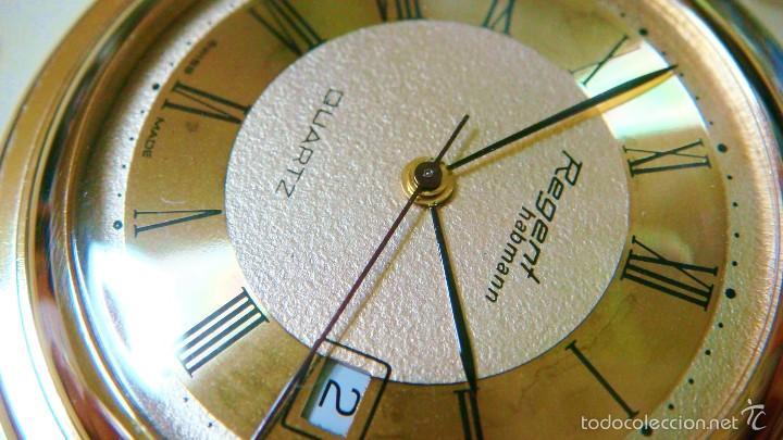 Relojes de bolsillo: REGENT HABMANN EXTRA-PLANO SWISS MADE CHAPADO 18K - CALENDARIO - Foto 20 - 59942115