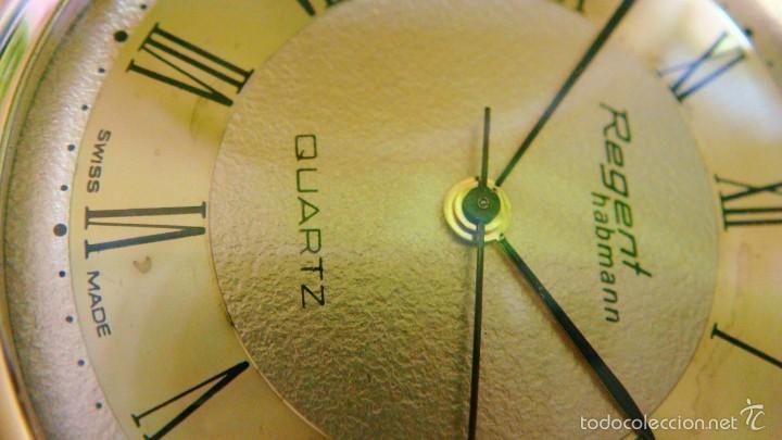 Relojes de bolsillo: REGENT HABMANN EXTRA-PLANO SWISS MADE CHAPADO 18K - CALENDARIO - Foto 21 - 59942115