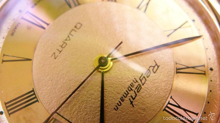 Relojes de bolsillo: REGENT HABMANN EXTRA-PLANO SWISS MADE CHAPADO 18K - CALENDARIO - Foto 22 - 59942115