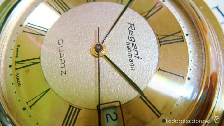 Relojes de bolsillo: REGENT HABMANN EXTRA-PLANO SWISS MADE CHAPADO 18K - CALENDARIO - Foto 26 - 59942115