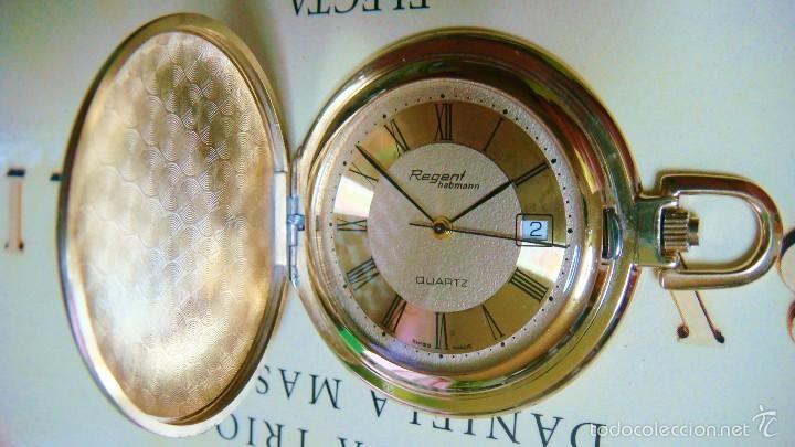 Relojes de bolsillo: REGENT HABMANN EXTRA-PLANO SWISS MADE CHAPADO 18K - CALENDARIO - Foto 28 - 59942115
