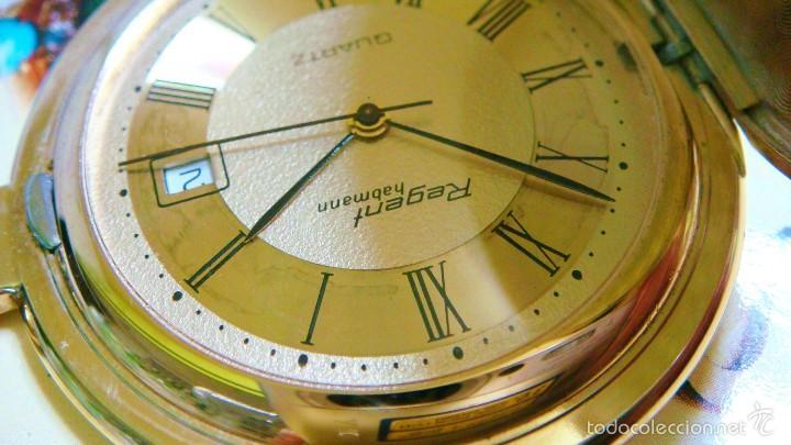 Relojes de bolsillo: REGENT HABMANN EXTRA-PLANO SWISS MADE CHAPADO 18K - CALENDARIO - Foto 30 - 59942115