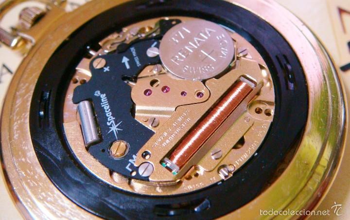Relojes de bolsillo: REGENT HABMANN EXTRA-PLANO SWISS MADE CHAPADO 18K - CALENDARIO - Foto 31 - 59942115