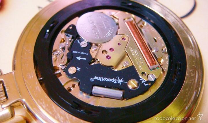 Relojes de bolsillo: REGENT HABMANN EXTRA-PLANO SWISS MADE CHAPADO 18K - CALENDARIO - Foto 37 - 59942115