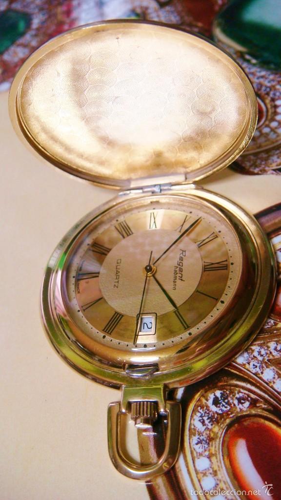 Relojes de bolsillo: REGENT HABMANN EXTRA-PLANO SWISS MADE CHAPADO 18K - CALENDARIO - Foto 38 - 59942115
