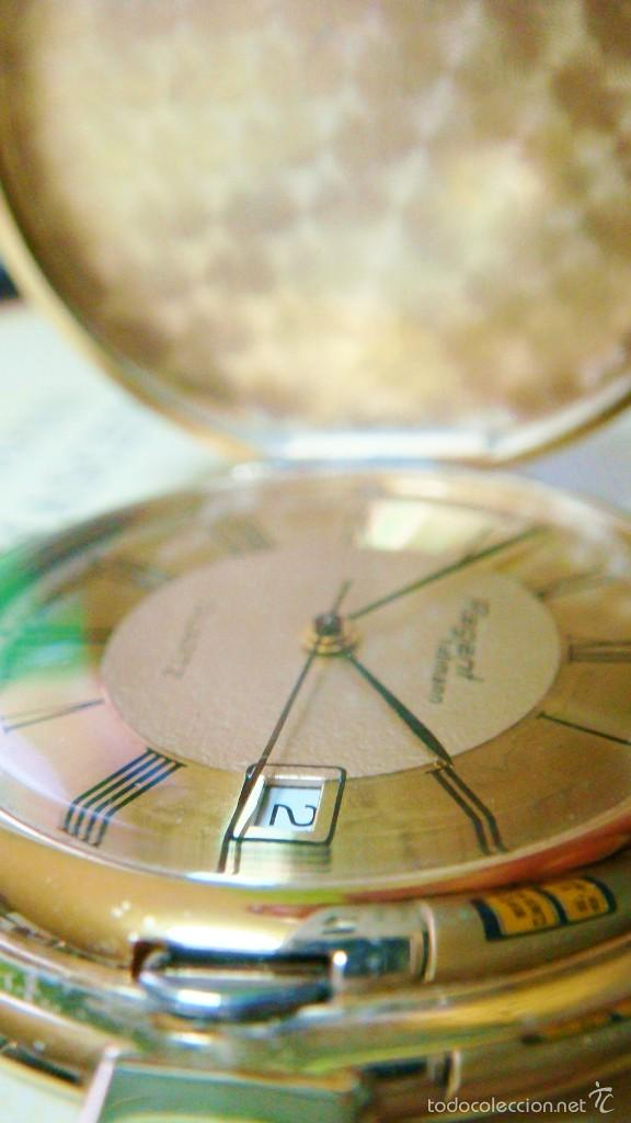 Relojes de bolsillo: REGENT HABMANN EXTRA-PLANO SWISS MADE CHAPADO 18K - CALENDARIO - Foto 39 - 59942115