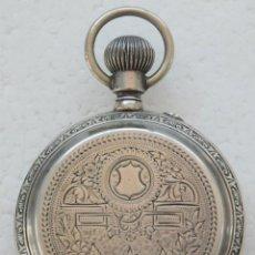 Relojes de bolsillo: ANTIGUO RELOJ , DE PLATA 3 TAPAS REMONTOIR ANCRE LIGNE DROITE 15 RUBIS SIGLO XIX. Lote 60374727