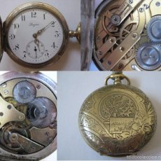 Relojes de bolsillo: !!! UNICO¡¡¡ RELOJ DE BOLSILLO LONGINES TRILLA 1ª DOS TAPAS EDICION LIMITADISIMA FINALES DEL IXX. Lote 60846611